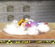 Ataque de recuperación de cara hacia arriba de Zelda (2) SSBM.png