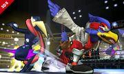 Falco y Greninja en el Cuadrilátero SSB4 (3DS).jpg