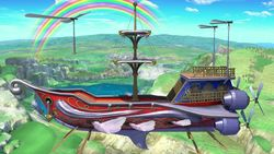 Vista del escenario en Super Smash Bros. Ultimate