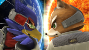 Fox y Falco en Destino final SSB4 (Wii U).png