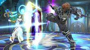 Ganondorf y Palutena en la Liga Pokémon de Kalos SSB4 (Wii U).jpg