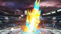 Terry usando Power Geyser en Super Smash Bros. Ultimate