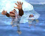 Donkey Kong y Wario nadando SSBB.jpg