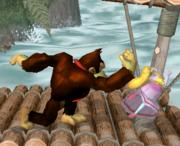 Lanzamiento hacia abajo de Donkey Kong (4) SSBM.png