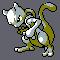 Imagen de Mewtwo variocolor en Pokémon Plata