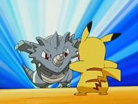 Rhydon usando megacuerno.