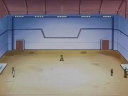 Campo de batalla del Gimnasio de Olivo en el anime