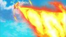 Charmander usando lanzallamas
