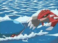 Kyogre usando surf.