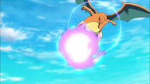 Charizard usando furia dragón