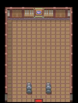 Interior del Gimnasio de Fucsia en los videojuegos