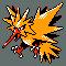 Imagen de Zapdos variocolor en Pokémon Plata