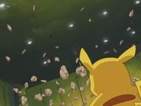 Geodude arroja rocas hacia el cielo...