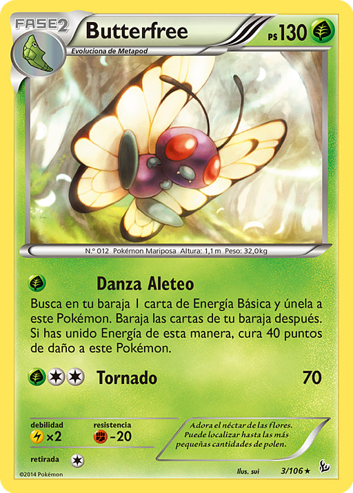 Carta de Butterfree
