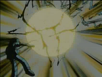 Pikachu de Ash usando impactrueno por tercera vez.