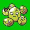 Imagen de Exeggcute variocolor en Pokémon Plata
