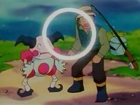 Mr. Mime usando psicoonda.