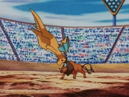 Dragonite usando golpe cuerpo.