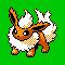 Imagen de Flareon variocolor en Pokémon Plata