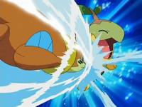 Buizel usando acua jet