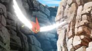 Talonflame usando ala de acero.