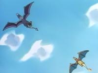 Aerodactyl usando vuelo.