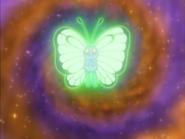 Butterfree usando velo sagrado.
