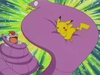 Pikachu usando placaje.