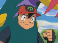 Ash disfrazado de Seviper