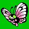 Imagen de Butterfree variocolor en Pokémon Plata