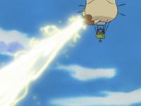 Combinación del rayo solar de Roselia y el rayo de Pikachu.