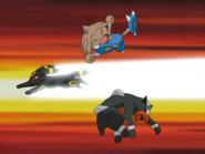 Umbreon usando Ataque rápido.