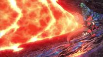 incineroar usando lanzallamas