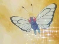 Butterfree de Ash usando somnífero.