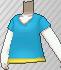 Camiseta cuello de pico azul claro.png