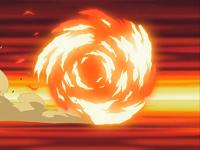 Quilava usando rueda fuego