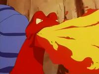 Magcargo usando lanzallamas.