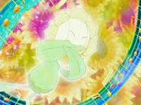 Sunflora usando silbato.