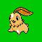 Imagen de Chikorita variocolor en Pokémon Plata