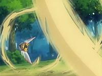 Ninjask usando ataque arena