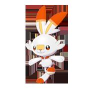 Imagen de Scorbunny en Pokémon Espada y Pokémon Escudo