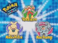 ¿Cuál de estos Pokémon no es de tipo lucha?