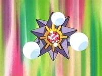 El Starmie de Marina usando burbuja.