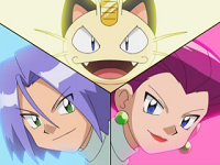 Team/Equipo Rocket en la serie original.