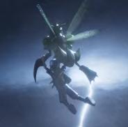 scyther usando vuelo