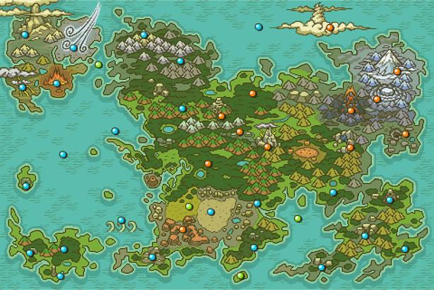 Mapa de los territorios