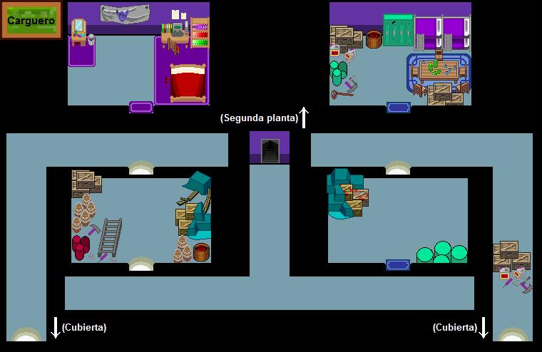 Plano de la tercera planta del Carguero.