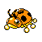 Imagen de Ledyba variocolor en Pokémon Plata