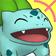 Cara eufórica de Bulbasaur 3DS.png