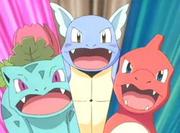 Los ojos de Ivysaur son de color fucsia y no morados.